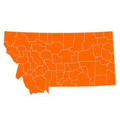 Map of montana vector