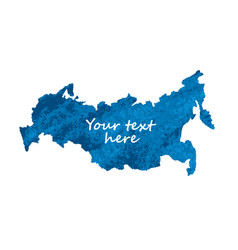 Map russia blue isolate object on white vector