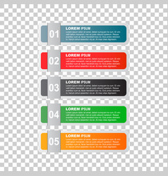 Modern business style options banner flat for vector