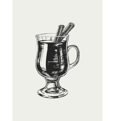 Mulled Wine Hand Drawn Drink vector