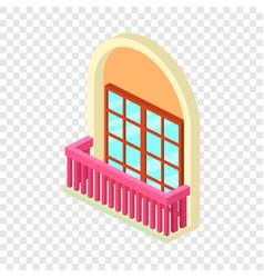 Narrow balcony icon isometric 3d style vector