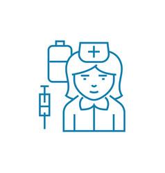 nurse linear icon concept nurse line sign vector image