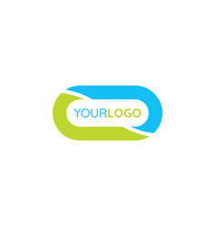 Oval logo simple medical design concept template vector