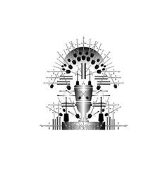 parody iron throne humorous vignette isolated vector image