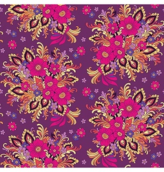Pattern bouquet violet vector