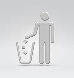 Person throws garbage vector image