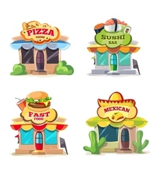 pictures of food markets vector image