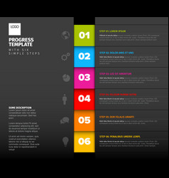 progress six steps template vector image