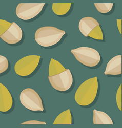 Pumkin seeds seamless pattern vector