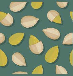 Pumpkin seeds seamless pattern vector