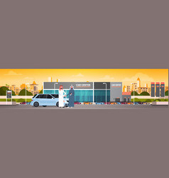 Purchase sale or rental center arab seller man vector