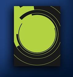 Retro bauhaus and de stijl brochure booklet cover vector