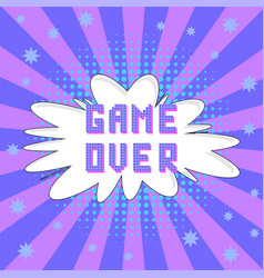 retro pixel game over sign gaming concept video vector image
