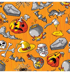 Seamless Halloween vector image