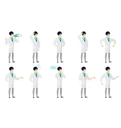 Set of with doctor characters vector