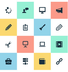 Set simple ui icons vector