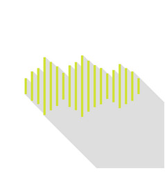 sound waves icon pear icon with flat style shadow vector image