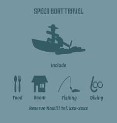 Speed boat advertise vector image