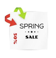 spring sale card background vector image