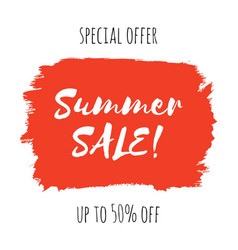 summer sale lettering inscription vector image