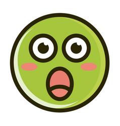 surprised funny smiley emoticon face expression vector image