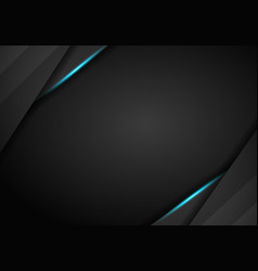 Tech black background with contrast blue stripes vector