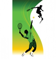 tennis template vector image