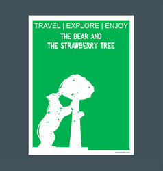 the bear and the strawberry tree madrid spain vector image