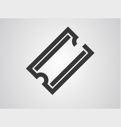 ticket icon sign symbol vector image