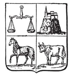 Uruguay coat of arms is a uruguay seal vintage vector