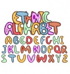 vector ethnic Latin alphabet vector image