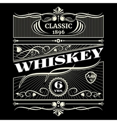 Vintage antique american whiskey label vector