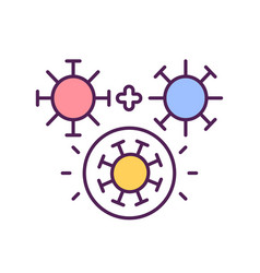 Virus mutation process rgb color icon vector