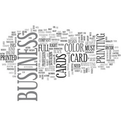 what business card are you in need of text word vector image
