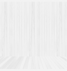 white wood floor and wall background vector image