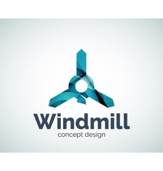 Windmill logo template vector image