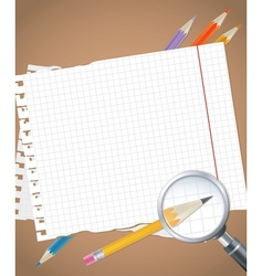 Back to school background or card vector image vector image
