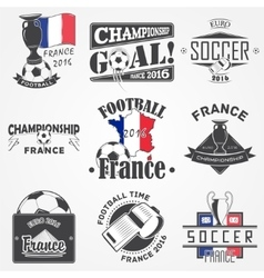 Football Championship of France set Soccer time vector image