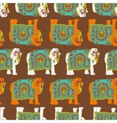 India elephant seamless pattern vector image