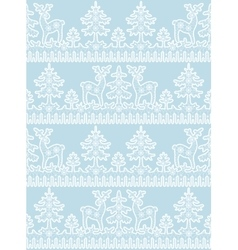 lace deer pattern vector image vector image