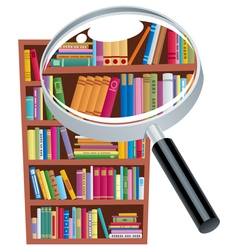 Research bookshelf vector image vector image