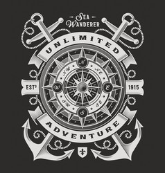 unlimited adventure typography on black background vector image
