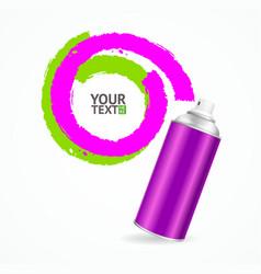 Color spray can write speech bubble vector