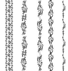 Seamless ornament border vector image