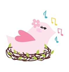 bird singing vector image