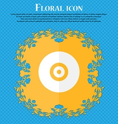 CD or DVD Floral flat design on a blue abstract vector image vector image