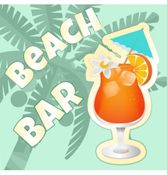 Coctail beach vector image