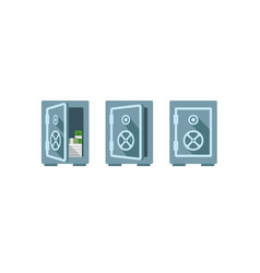 flat safe one safe indoor and vector image