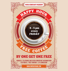 Happy Hour poster vector image