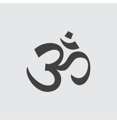 Om sign icon vector image